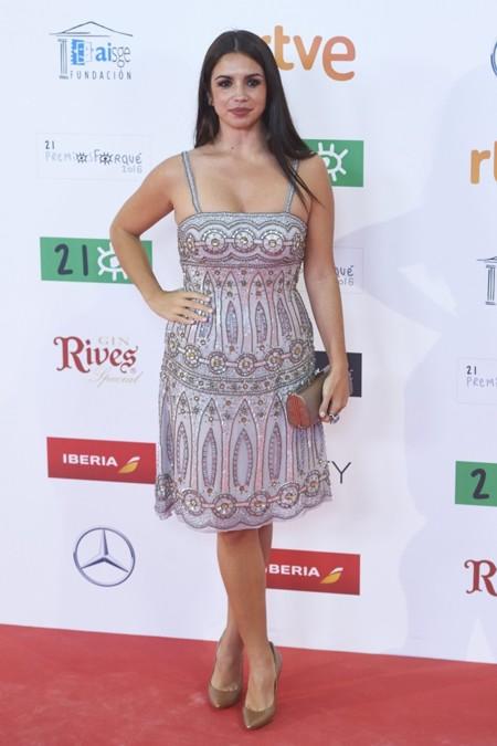 Elena Furiase en los Premios Forqué, enero 2016