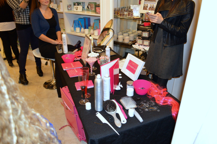 styling tools on a table