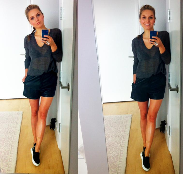 Leather Shorts Helmut Land Knit Sandro Slip-on Sneakers