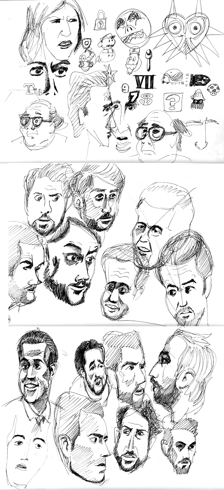 Various Face Sketches