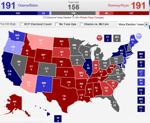 The Badger Catholic No This Will Not Be A Close Election - Map of swing states in the us