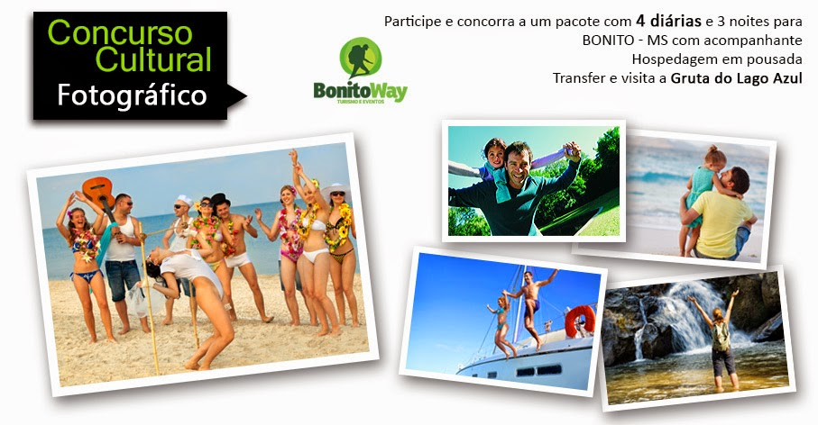 Participe e concorra a um pacote com 4 diárias para BONITO - MS