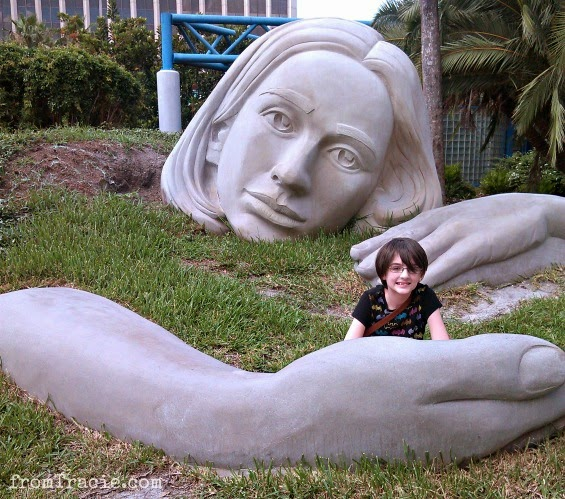 sculpture in downtown Orlando Discovery Muse
