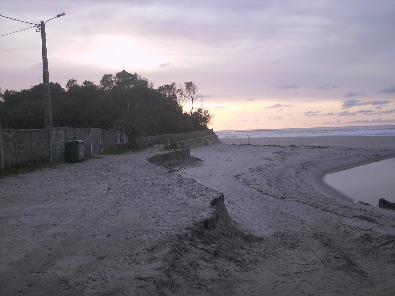 duna que foi destruida, junto ao mar