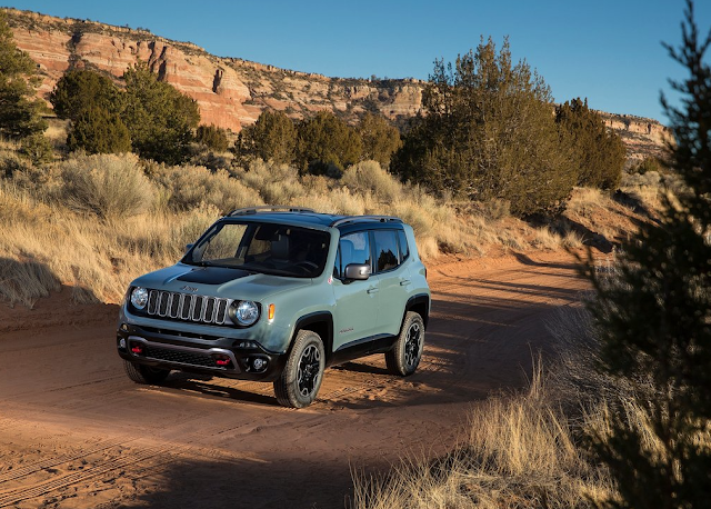 2015 Jeep Renegade blue green