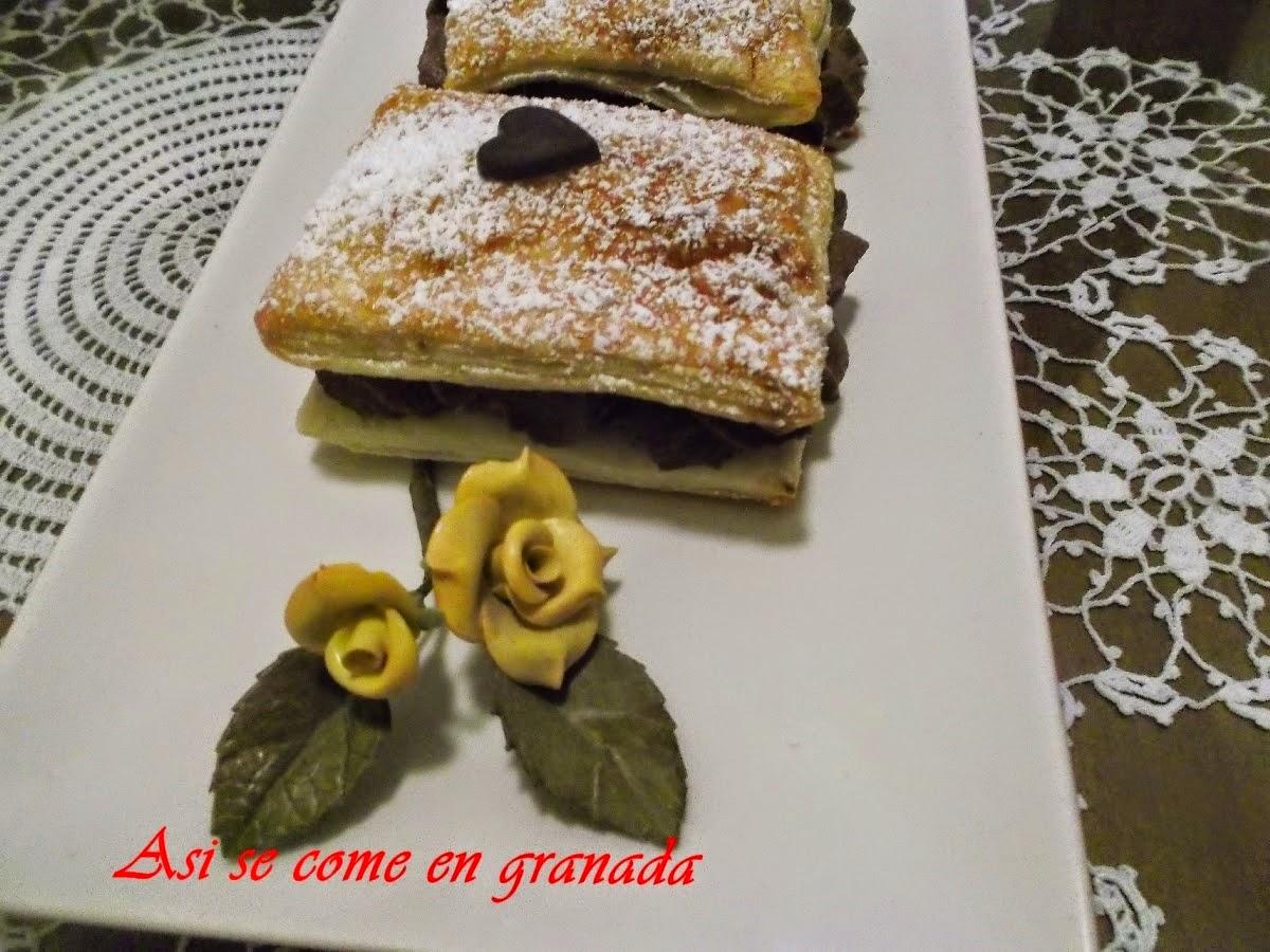 http://www.asisecomeengranada.com/2014/10/milhojas-de-trufa.html