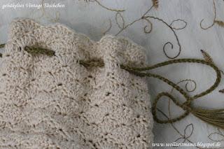 DIY : Vintage Täschchen häkeln, Brautbeutel; Anleitung kostenlos