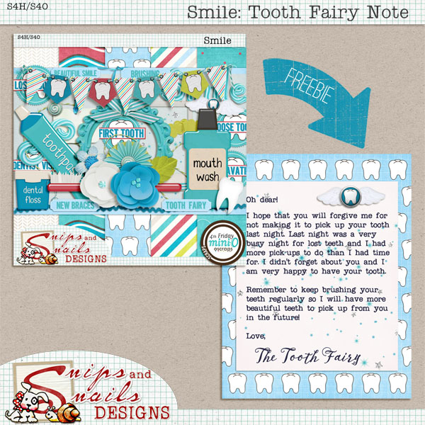 Smile Tooth Fairy Note Freebie