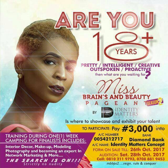 MISS BRAIN'S AND BEAUTY PAGENT {MBBP} Season 2