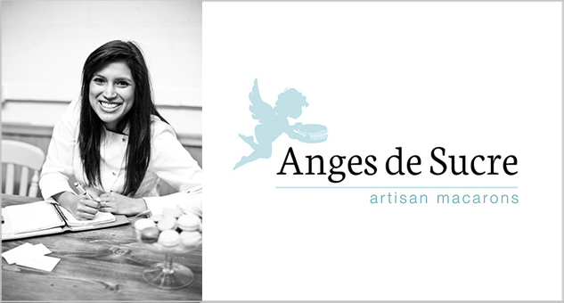 Reshmi Bennett of Anges de Sucre in her London macaron making headquarters