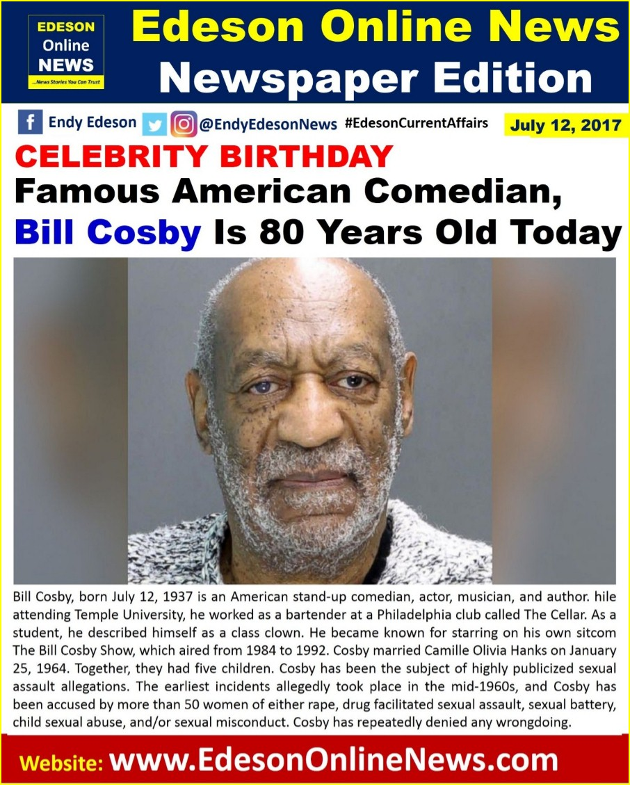 a biography of bill cosby Bill cosby was born july 12, 1937 the biography of bill cosby in 1976, bill cosby earned a doctor of education degree from the university of massechusetts he was born.
