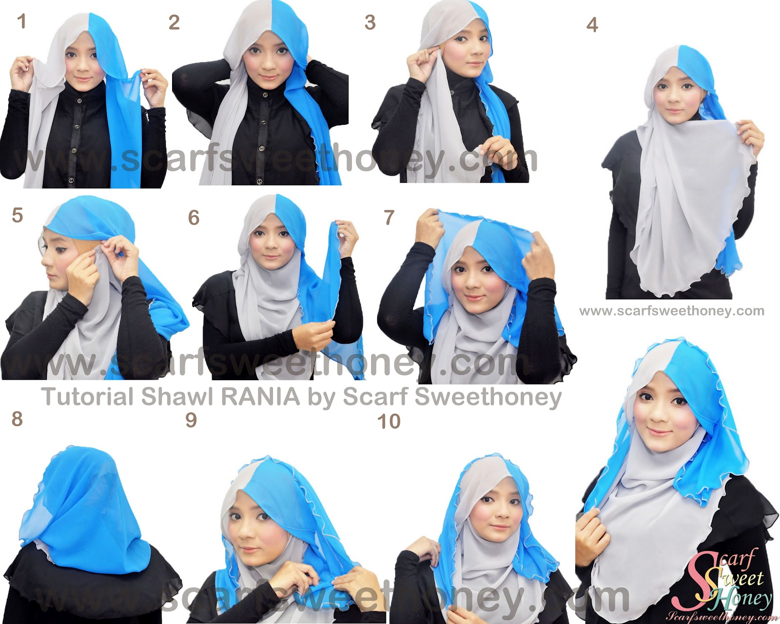 Cara Memakai Shawl Chiffon RANIA Tutorial Memakai Jilbab Hijab