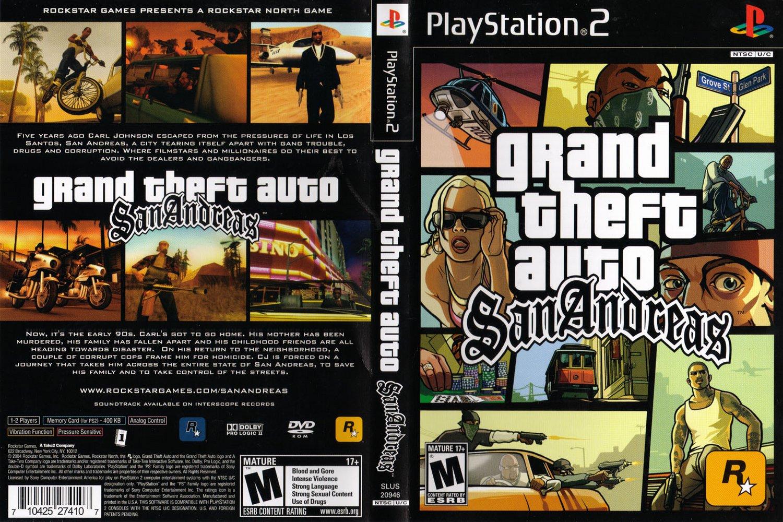 Grand Theft Auto: San Andreas PS2 Gratis Sem Protetor de Link (PT-BR)