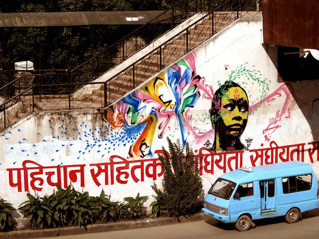 street art by stinkfish in nepal 5
