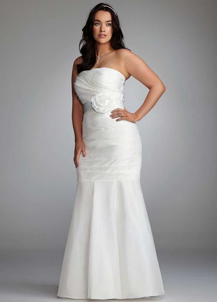 Fashion for the curvy girl affordable plus size wedding for Plus size wedding dresses size 32 and up