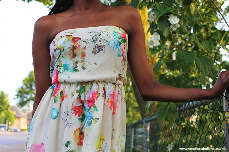 Zara flower print dress, Floral Dress