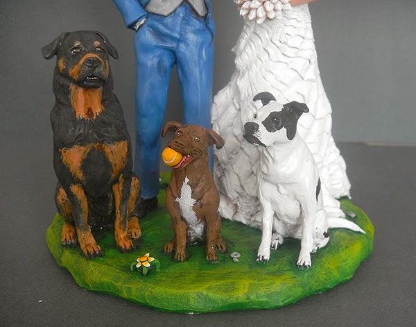 cake topper con animali domestici cani gatti fatti a mano orme magiche