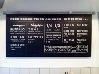 The menu at Wishbone, Brixton. Photo by Hugh Wright