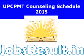 UPCPMT Counseling Schedule 2015
