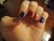 America the Beautiful July 4th Nails