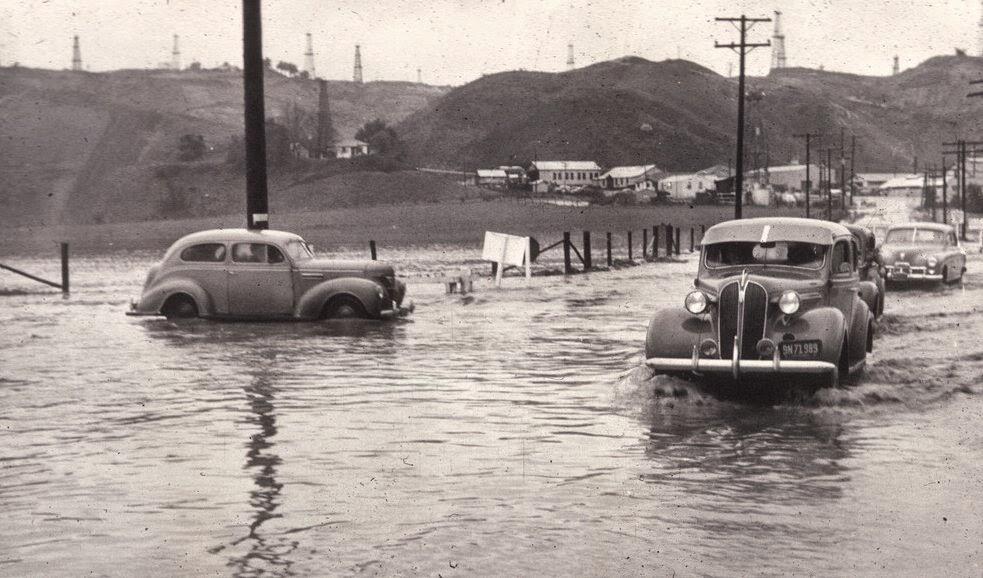 vintage everyday: Flooded at Beach & Imperial, La Habra ...