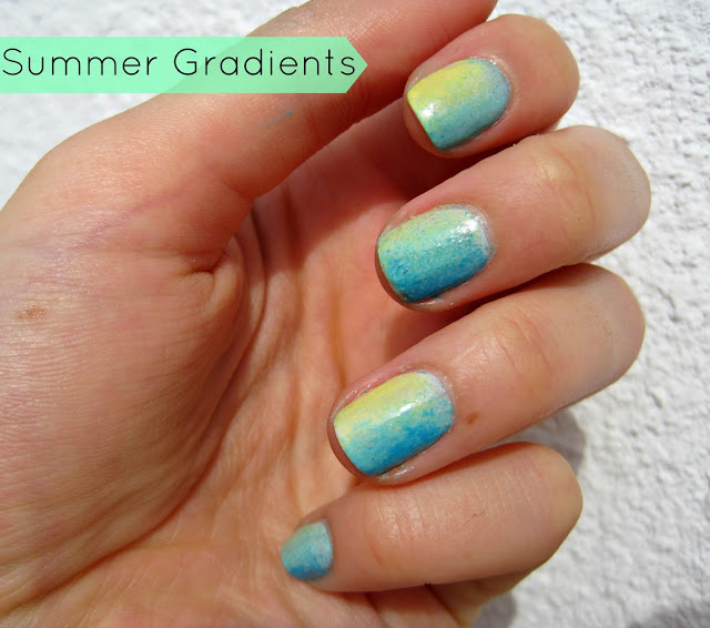 summer neon gradient nails manicure nails china glaze orly sally hansen spring