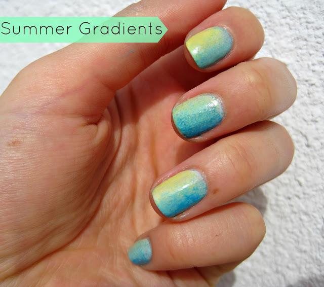 summer neon gradient nails manicure nails china glaze orly sally hansen spring