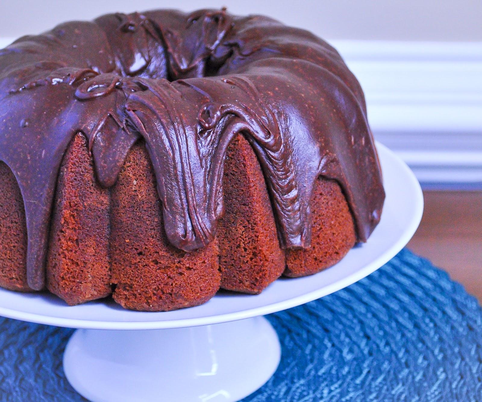 Chocolate Pound Cake With Fudge Icing