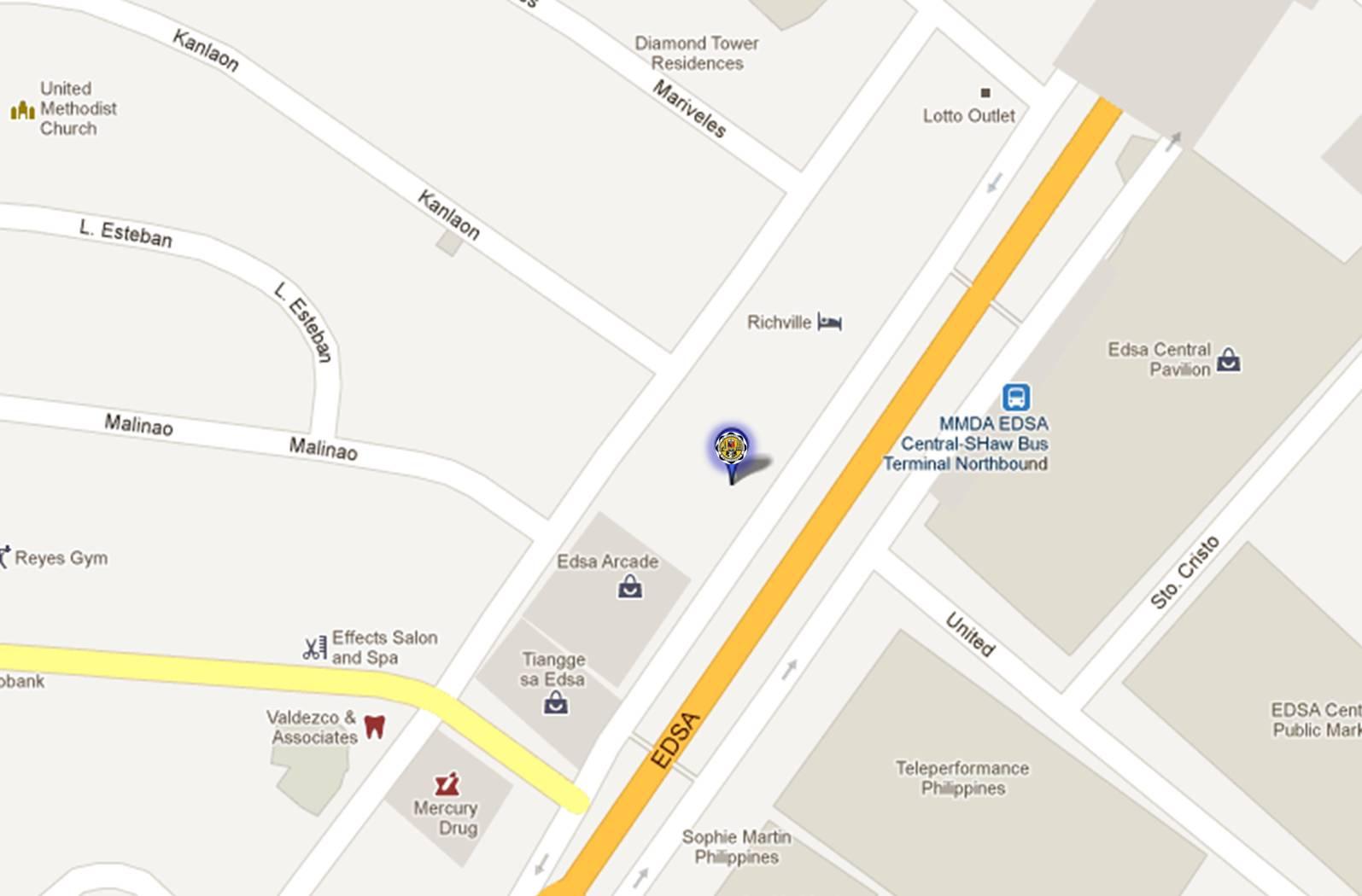 Tomtax RDO Mandaluyong Cithy Map Location - Mandaluyong map