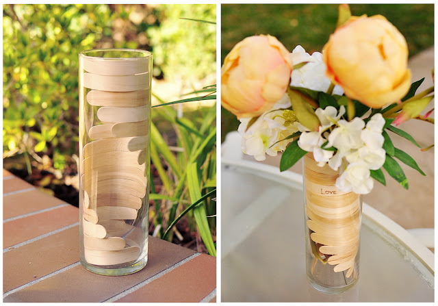 unique crafts: bending popsicle sticks for a wooden helix vase