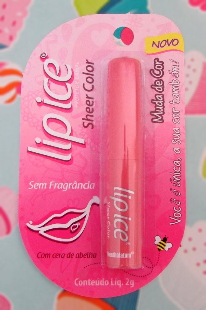 protetor labial, sem fragrância, Lip Ice Color
