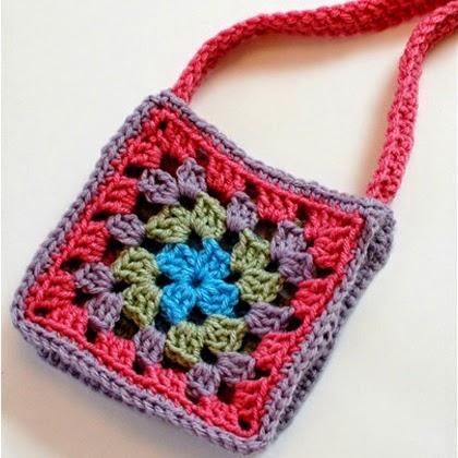 Granny Square Purse Crochet Pattern