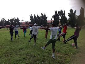 NBAIkeja (tigers) members exercising
