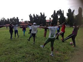 NBAIkeja (tigers) members exercising