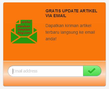 Memasang Widget Email Subscriber Artikel di Blog