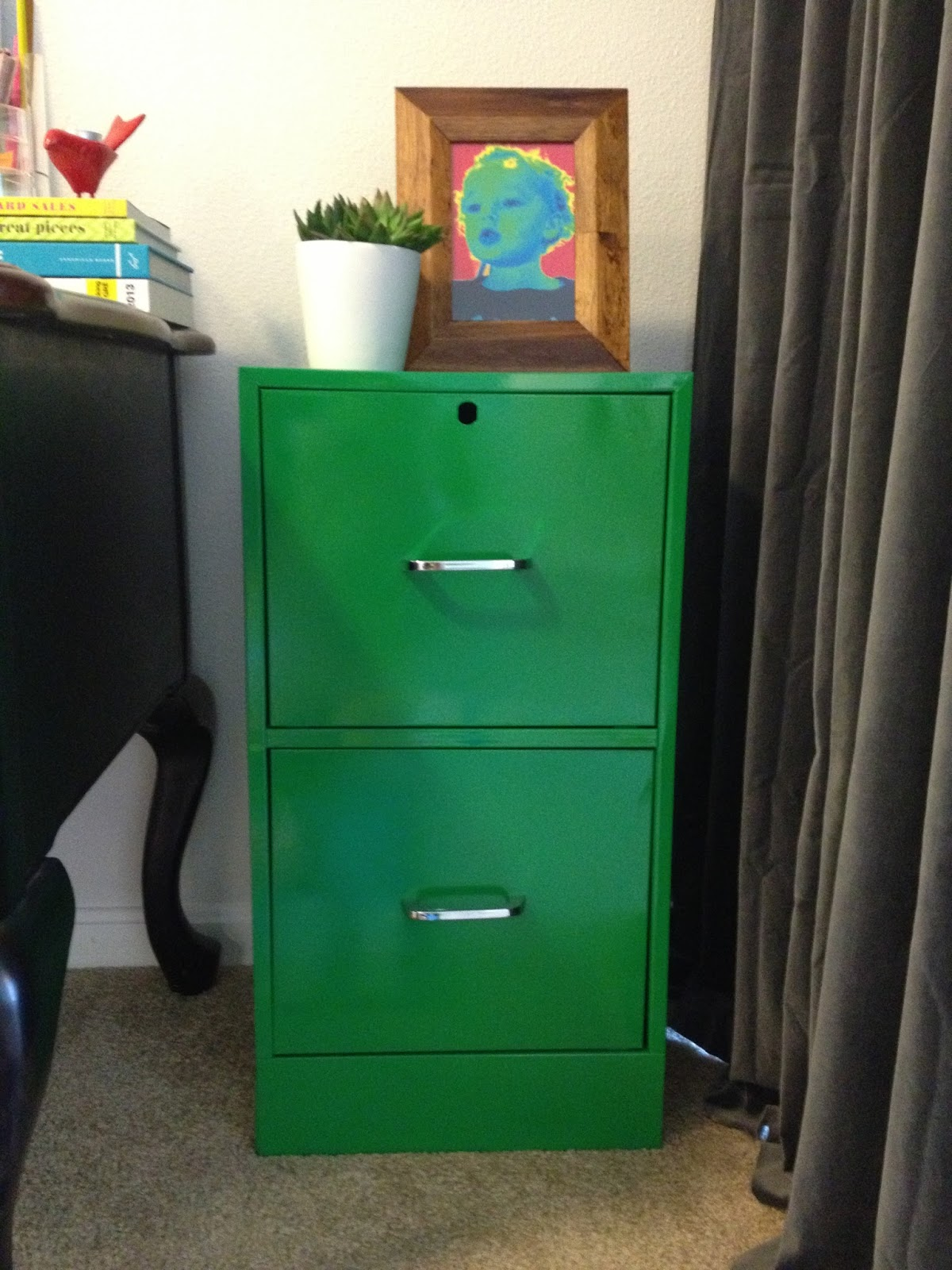 Green File Cabinet Inspired Whims Breathing New Life Into A Dingy File Cabinet