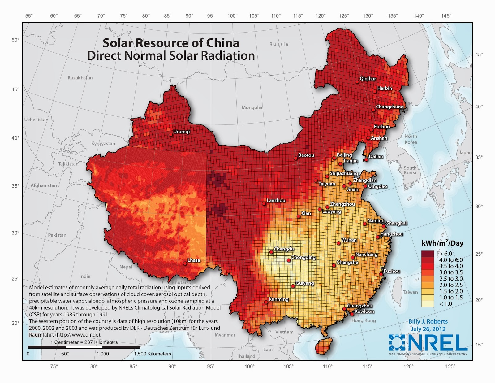 The Future Of Concentrated Solar Power In China REVE - Solar power map us