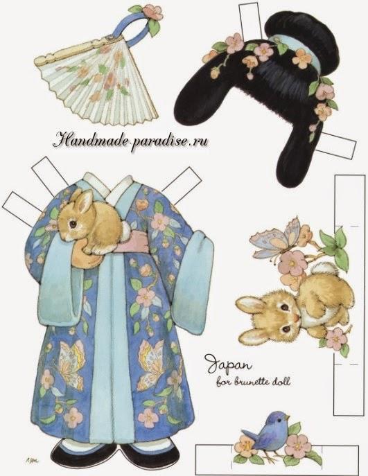 Бумажные куклы с одеждой для вырезания 7