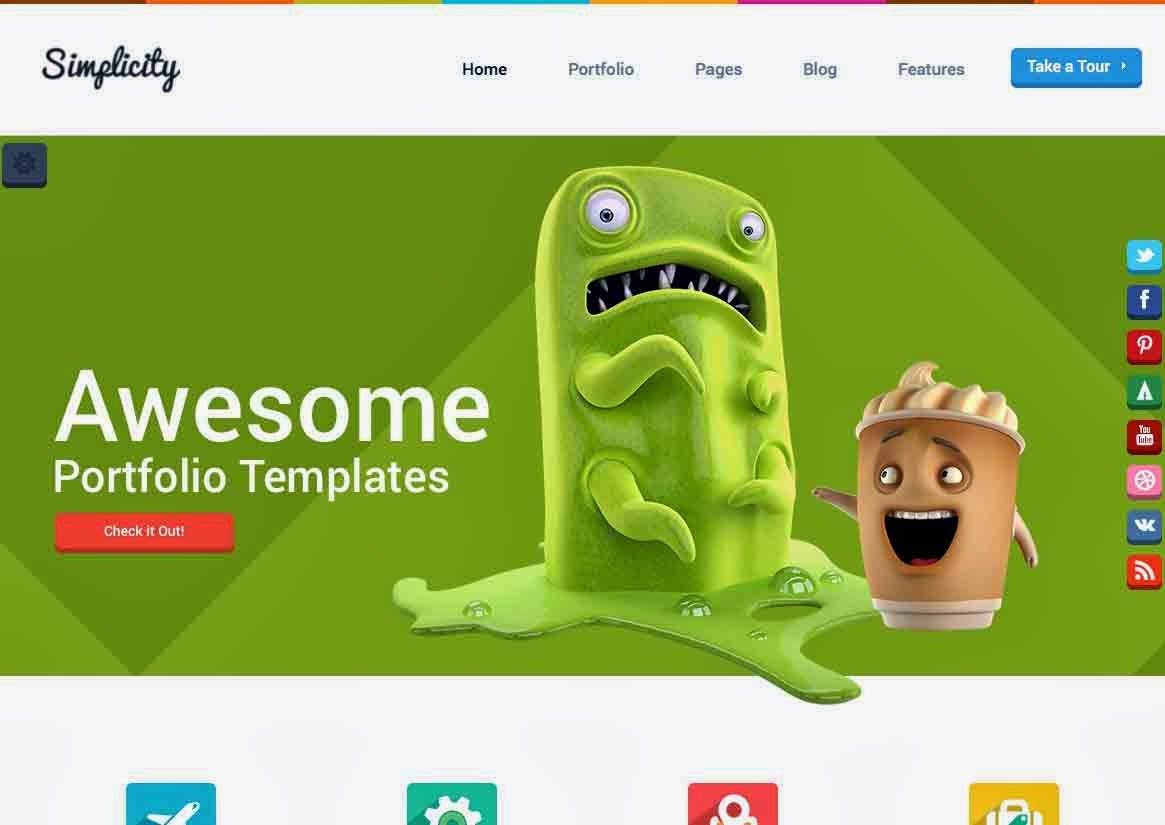 70+ Awesome Flat WordPress Themes