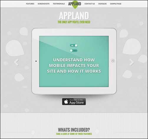AppLand – Parallax App Landing WordPress Theme