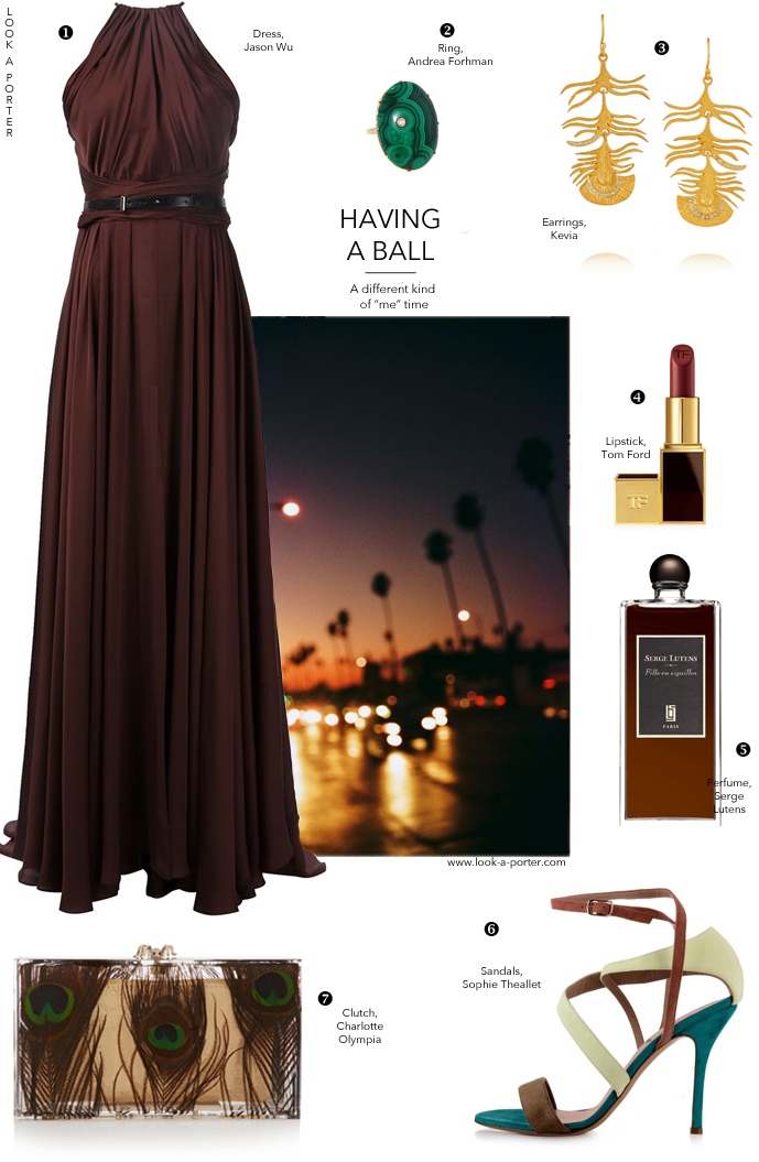 How to style a party outfit idea / Jason Wu dress, kevia, charlotte olympia, sophie theallet, serge lutens, tom ford / ootd, how to style, outfit ideas / via look-a-porter.com