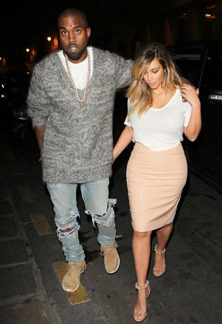 Kim Kardashian vinyl skirt