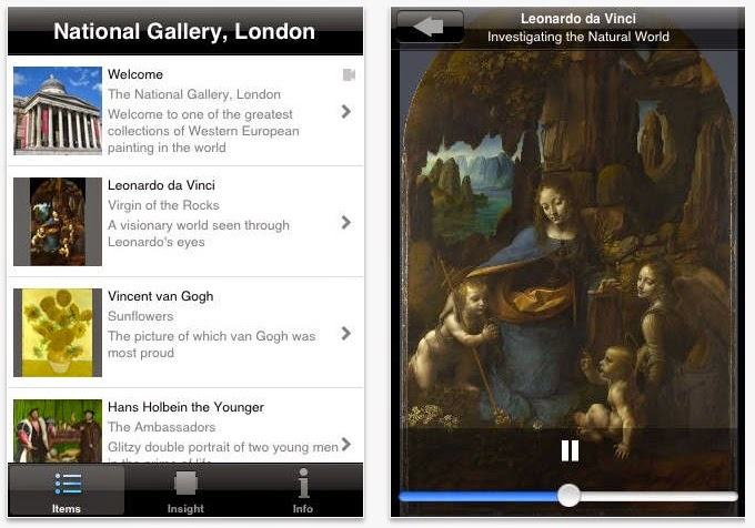National Gallery iPhone app