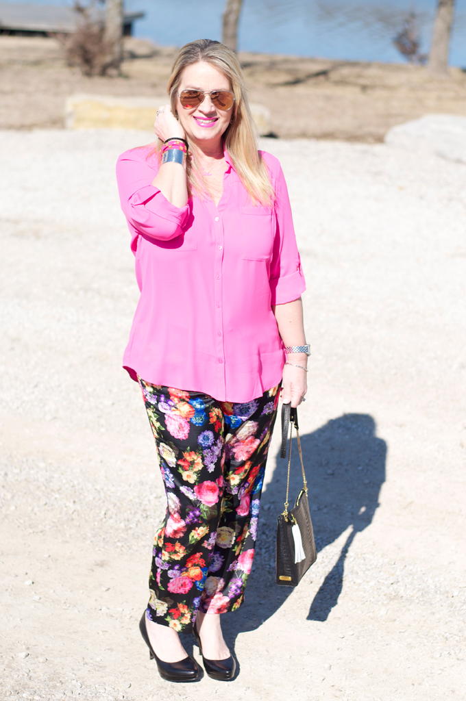 Silk_Floral_pants_hot_pink