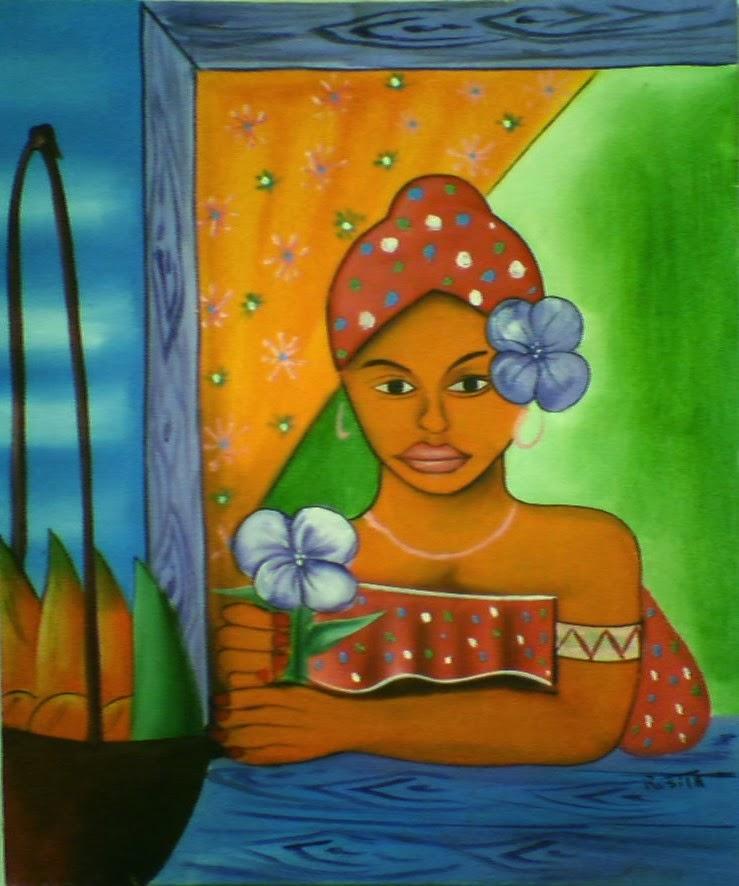 Haitianarts cadre femme Las Galeras
