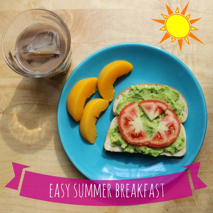 My favorite easy summer breakfast with  #GevaliaIcedCoffee