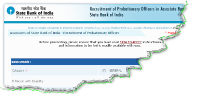 SBI Associate Bank PO Online Form 2011