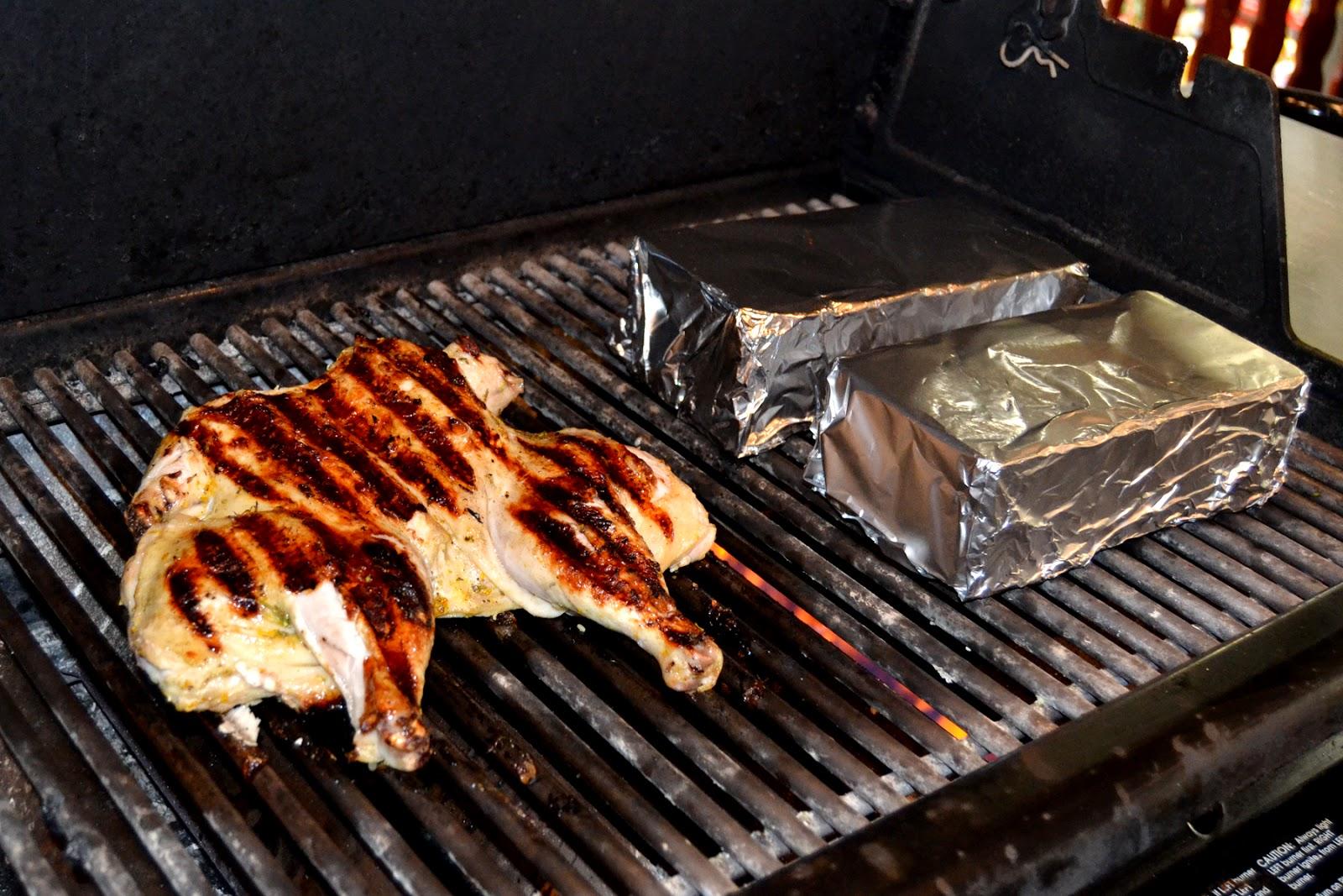 Brick-Grilled Chicken Thighs Recipe — Dishmaps