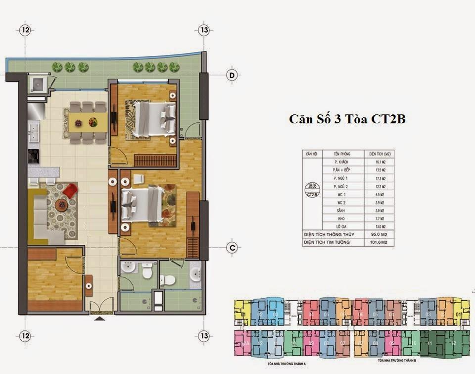 Mặt Bằng Chung Cư Tràng An Complex Tòa CT2B