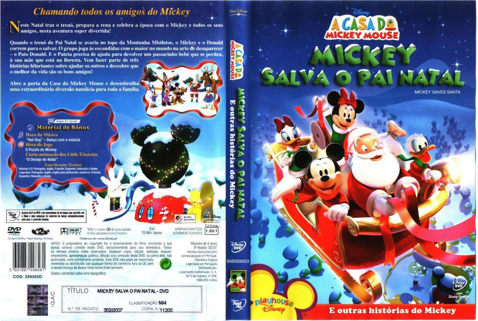 Casa Do Mickey Mouse   Mickey Salva O Pai Natal_2006_PT